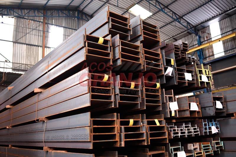 Vigas de ferro para construção